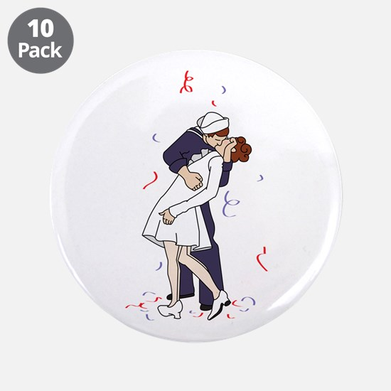 "Soldier Celebrating 3.5"" Button (10 pack)"