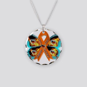CRPS RSD FIre & Ice Warrior Necklace Circle Charm