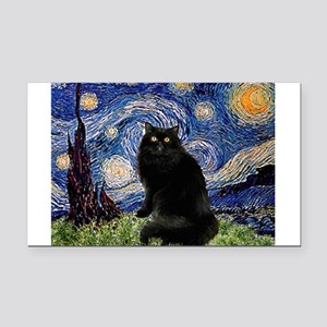 Starry Night /Persian (bl) Rectangle Car Magnet