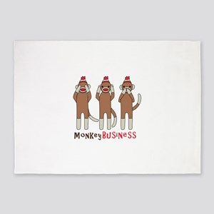 Monkey Business 5'x7'Area Rug