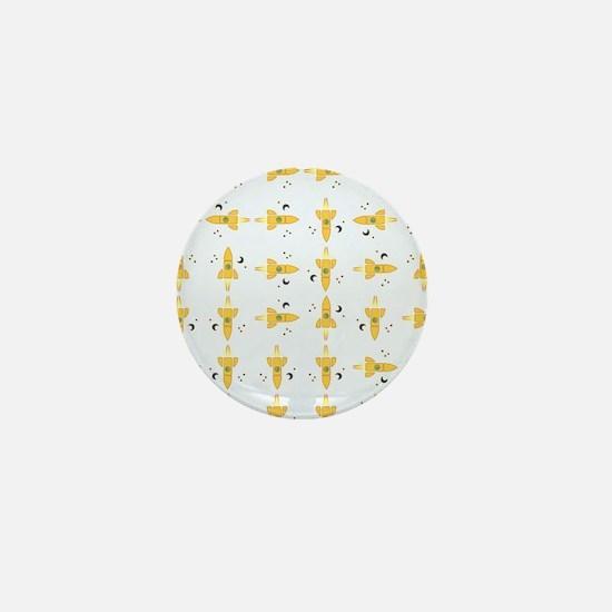 Spaceships pattern Mini Button