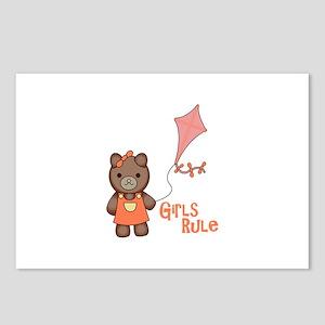 Girl Rule Bear Postcards (Package of 8)