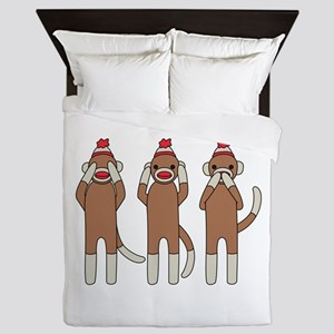 Three Monkeys Queen Duvet