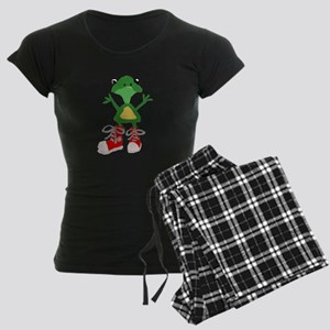 Frog in Red Sneakers Women's Dark Pajamas