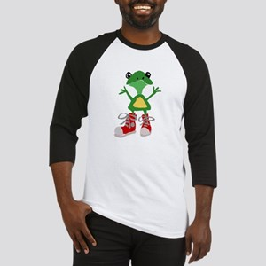 Frog in Red Sneakers Baseball Jersey