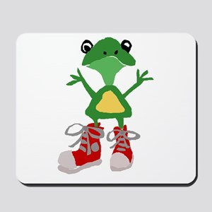 Frog in Red Sneakers Mousepad
