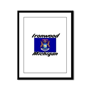 Ironwood Michigan Framed Panel Print