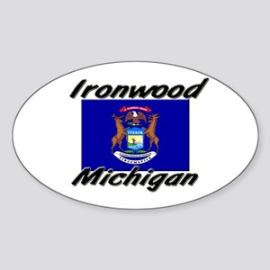 Ironwood Michigan Oval Sticker