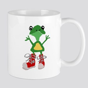 Frog in Red Sneakers Mugs