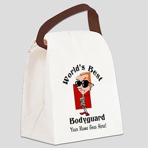 Worlds Best Bodyguard Canvas Lunch Bag