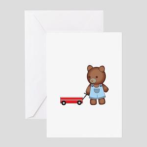 Boy Teddy Bear Greeting Cards