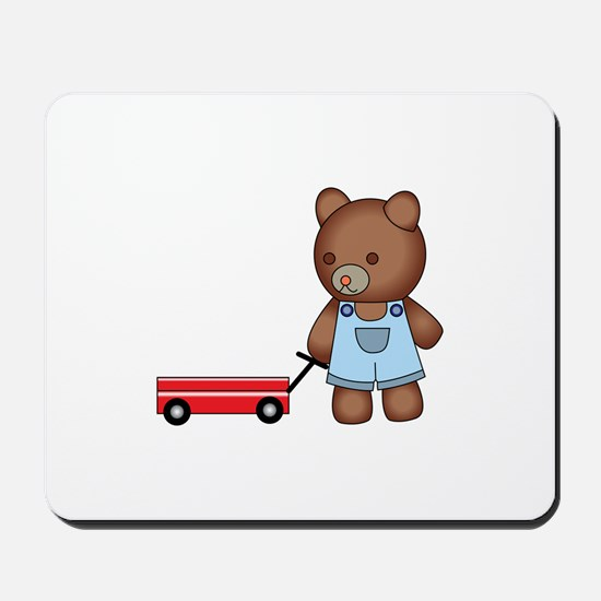 Boy Teddy Bear Mousepad
