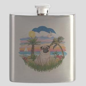 Palms - Fawn Pug 17 Flask