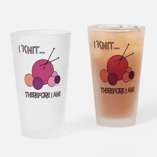I KNIT... Drinking Glass