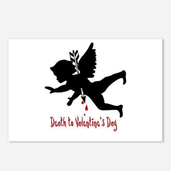Death to Valentines Day Postcards (Package of 8)