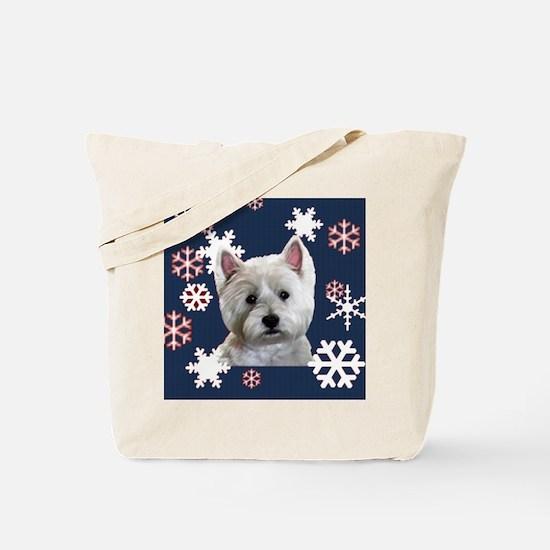 Unique Westie christmas Tote Bag