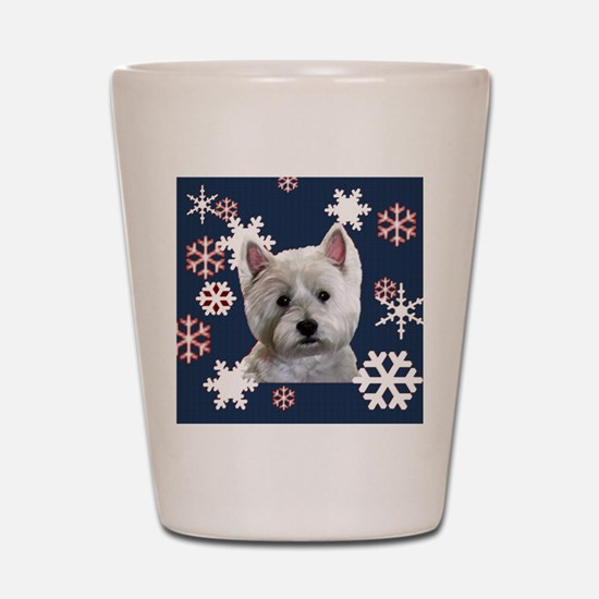 Cute Westie Shot Glass