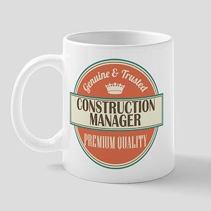 construction manager vintage logo Mug