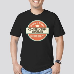 construction manager v Men's Fitted T-Shirt (dark)
