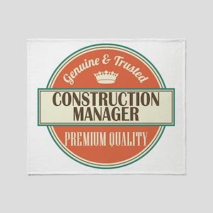 construction manager vintage logo Throw Blanket