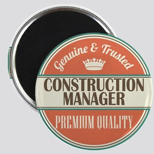 construction manager vintage logo Magnet