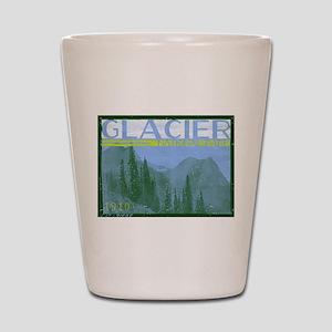 Glacier National Park Mountains Shot Glass