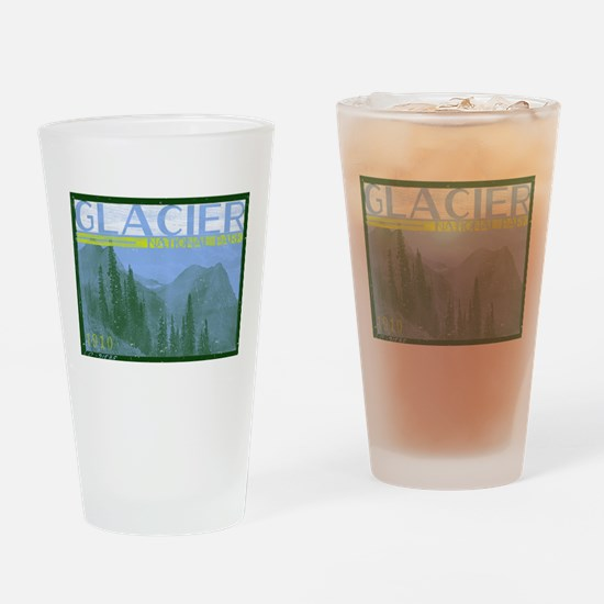 Glacier National Park Mountains Drinking Glass