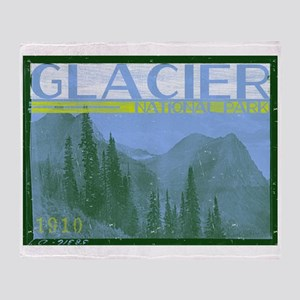 Glacier National Park Mountains Throw Blanket