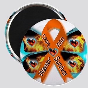 CRPS RSD FIre & Ice Warrior Survivor Ribbo Magnets