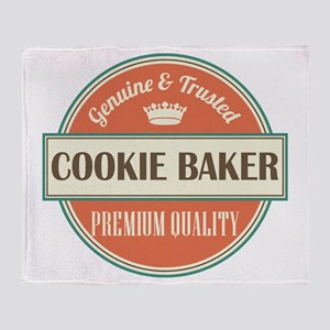 cookie baker vintage logo Throw Blanket
