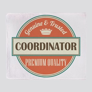 coordinator vintage logo Throw Blanket