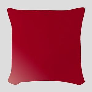 Just Burgundy Woven Throw Pillow