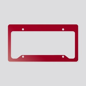 Just Burgundy License Plate Holder