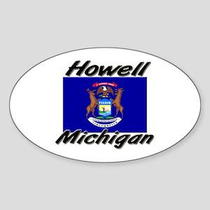 Howell Michigan Oval Sticker