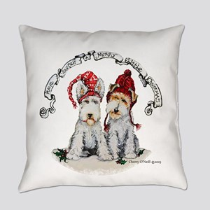 Fox Terrier Christmas Everyday Pillow