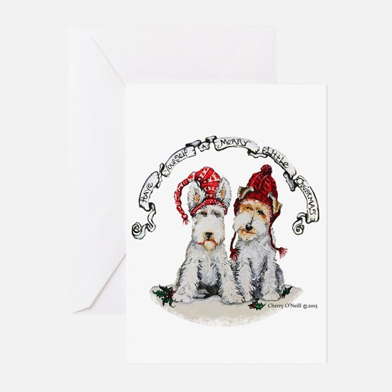 Fox Terrier Christmas Greeting Cards