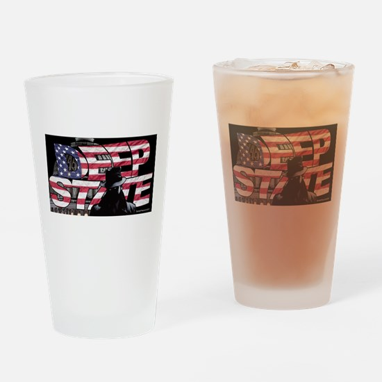 The Deep State Drinking Glass