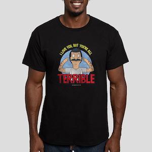 Bob's Burgers Terrible Men's Fitted T-Shirt (dark)