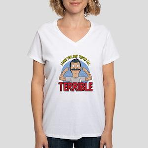 Bob's Burgers Terrible Women's V-Neck T-Shirt