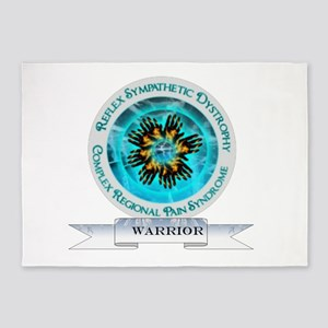 CRPS RSD Warrior Starburst Shield 5'x7'Area Rug