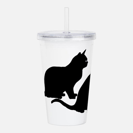 Black Cat Duo Acrylic Double-wall Tumbler