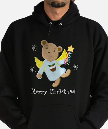 Christmas Angel Teddy Bear Hoody