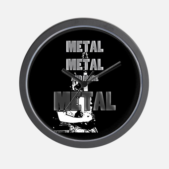 Metal, Metal and More Metal Wall Clock