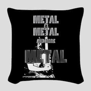 Metal, Metal and More Metal Woven Throw Pillow