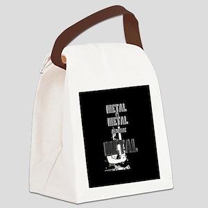 Metal, Metal and More Metal Canvas Lunch Bag