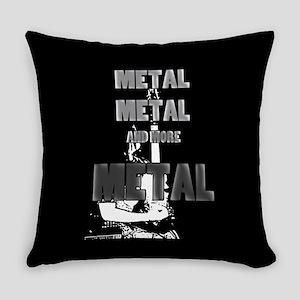 Metal, Metal and More Metal Everyday Pillow