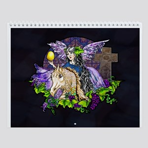 Gothic Cross And Fairy Eve Wall Calendar