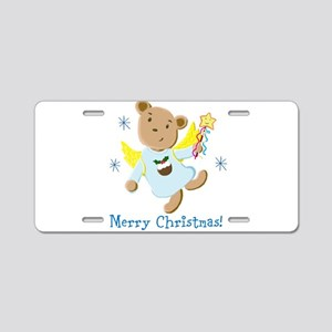 Teddy Bear Christmas Angel Aluminum License Plate