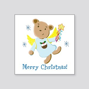 Teddy Bear Christmas Angel Sticker