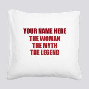 Custom Woman Myth Legend Square Canvas Pillow